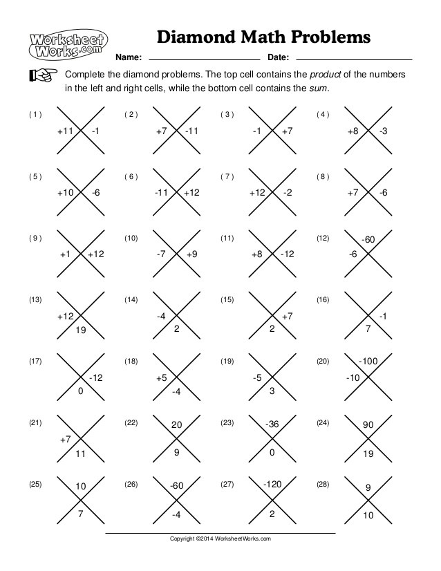 Worksheet Works Math – Math Worksheets Answer Key