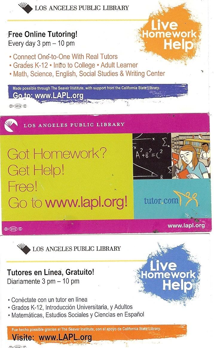 Live homework help lapl