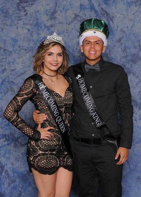 Homecoming Queen CeCe Jones and King Jose Gama