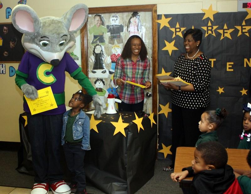 Corporations, Varnett reward PK students for perfect attendance