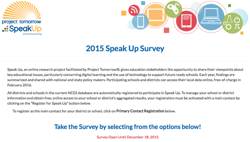 SPEAK UP TECHNOLOGY SURVEY