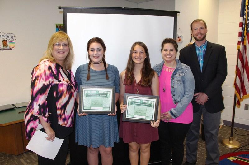 BHS Seniors Elyssa Martinez and Gia Gibbs recognized at Board meeting Thumbnail Image