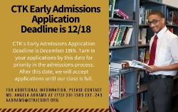 Early Admissions Application Deadline is Quickly Approaching!
