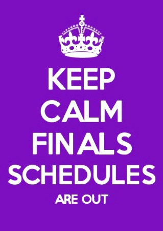Fall Finals Schedules Thumbnail Image