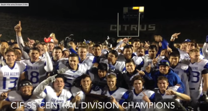 Titans 2015 CIF-SS Central Division Champions