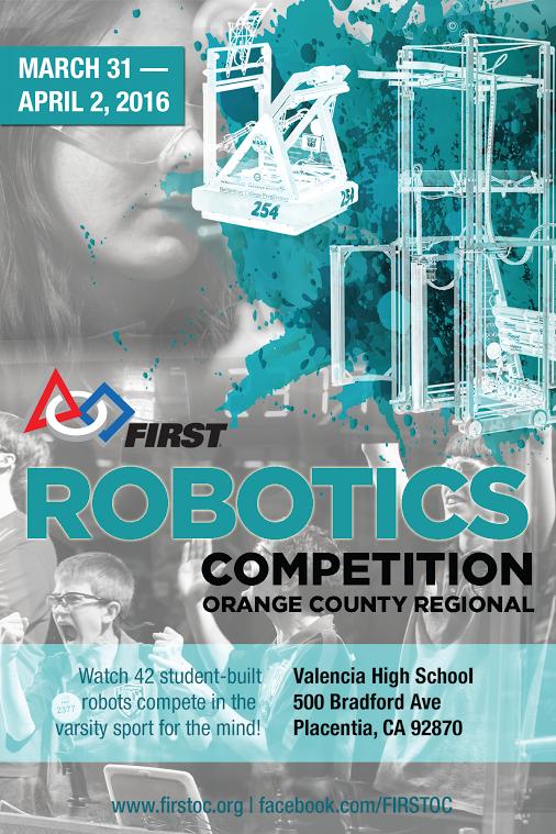 FIRST Robotics Challenge Orange County Regional Volunteer Signup Page is now open!