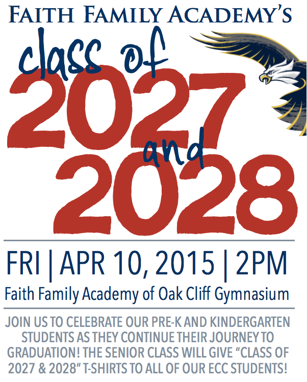 Pre-K & Kindergarten Students to Receive Class of 2027 & Class of 2028 T-Shirts