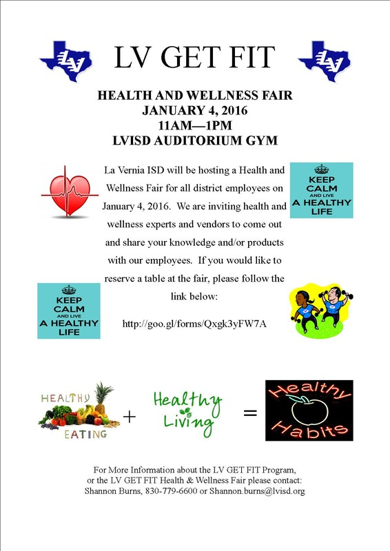 Save the Date - LVISD HEALTH AND WELLNESS FAIR!
