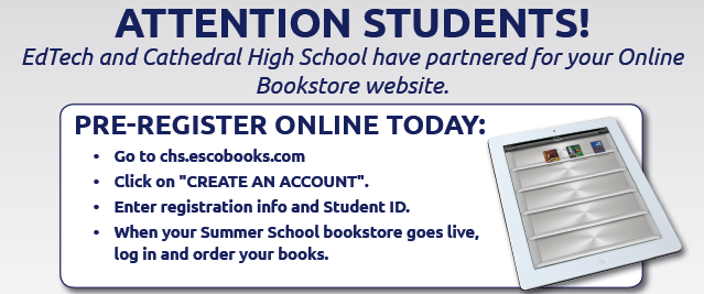 ESCO Online Bookstore Opens August 1st