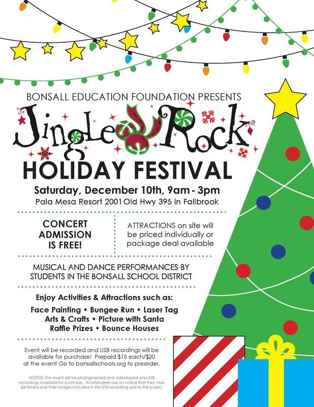 Jingle Rock informational flyer
