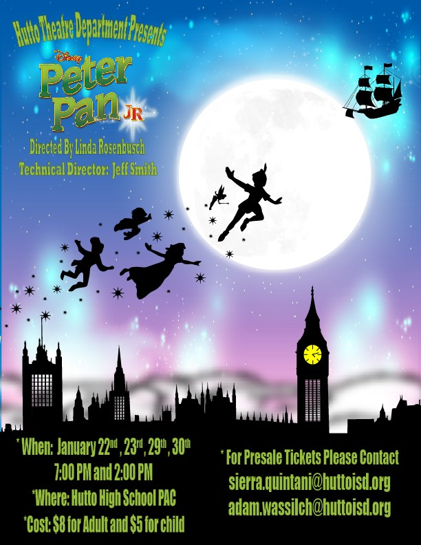 "Hutto Theatre Department Presents: Disney's ""Peter Pan Jr."""