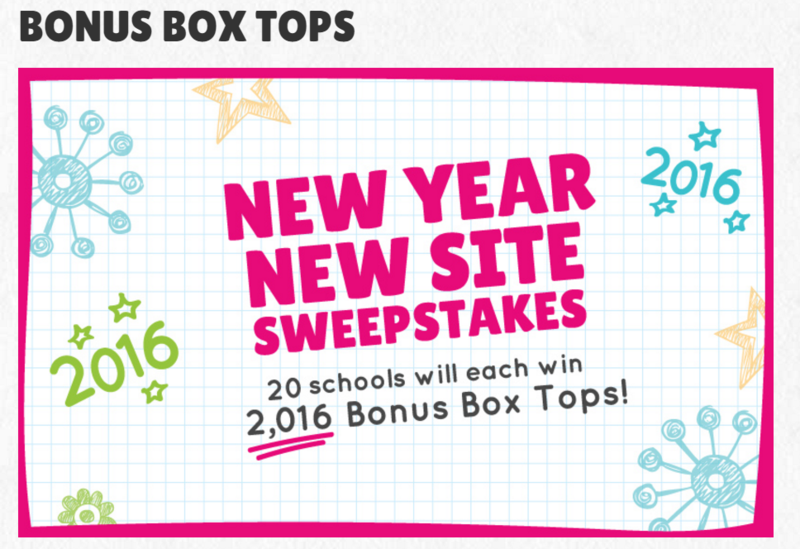 New 2016 Box Tops for Education Sweepstakes!