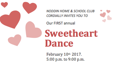 Noddin's First Annual Sweetheart Dance!  Click here for details. Thumbnail Image
