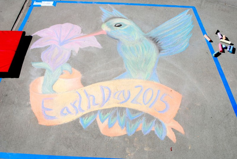"""Claudia Lopez Wins Inaugural Golden Valley """"Earth Day"""" Chalk Art Contest"""