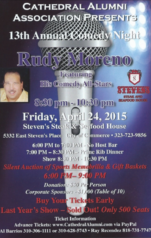 CATHEDRAL ALUMNI ASSOCIATION PRESENTS : ANNUAL COMEDY NIGHT – April 24, 2015