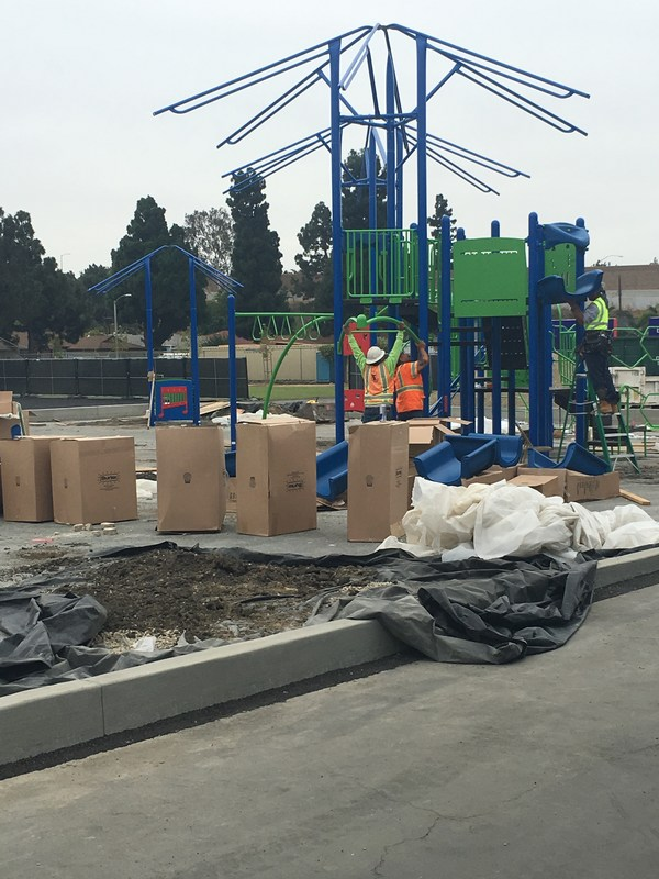Upper grade playground is coming along!