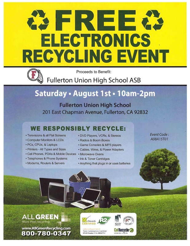 Free E-Waste Recycling Event