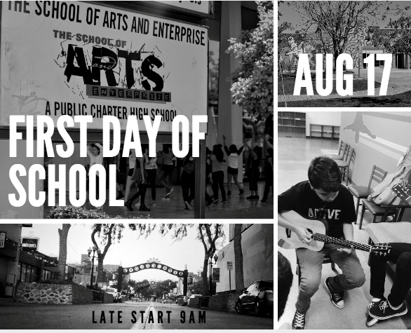 First Day of School. Monday, August 17th