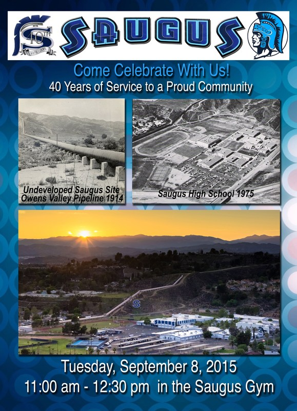 Saugus High School to Celebrate 40th Anniversary