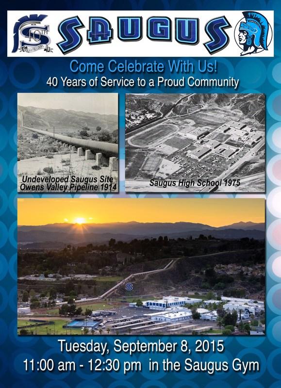 Saugus High School to Celebrate 40th Anniversary