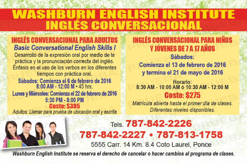 Cursos de Inglés Conversacional para Adultos, Niños y Jóvenes