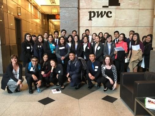 Students Visit Price Waterhouse Cooper