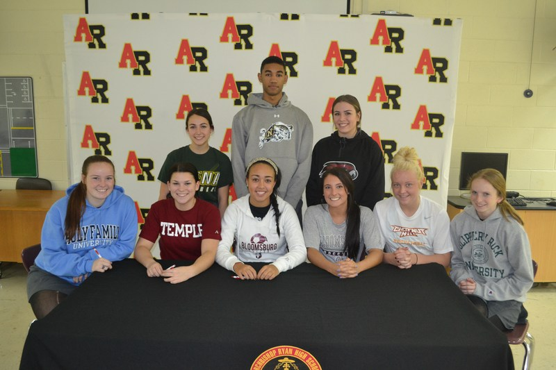 On February 3, 2016 Archbishop Ryan Celebrated our National Signing Day for our Senior Athletes!