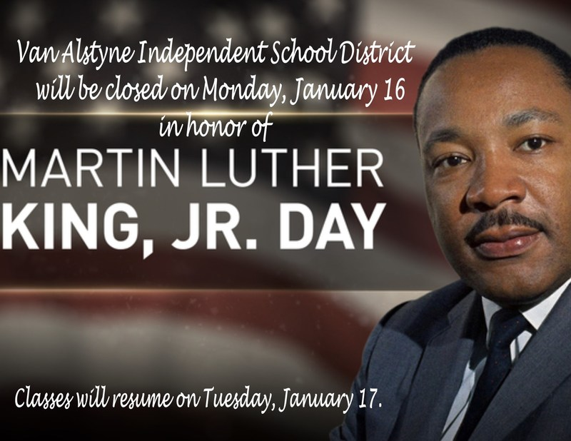 MLK Jr. Day- Monday, January 16 Thumbnail Image