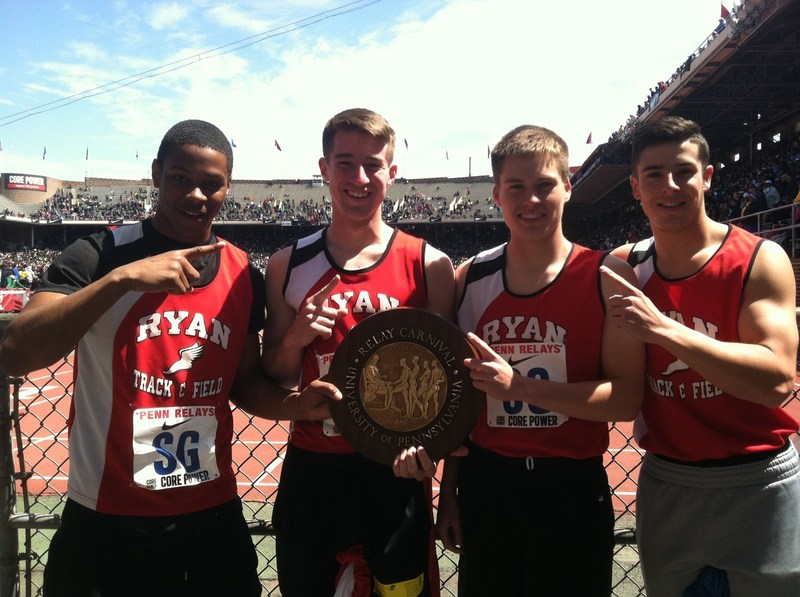 Track Team Takes First at Penn Relays