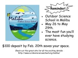 Outdoor Science School in Malibu Open to All Fifth Graders