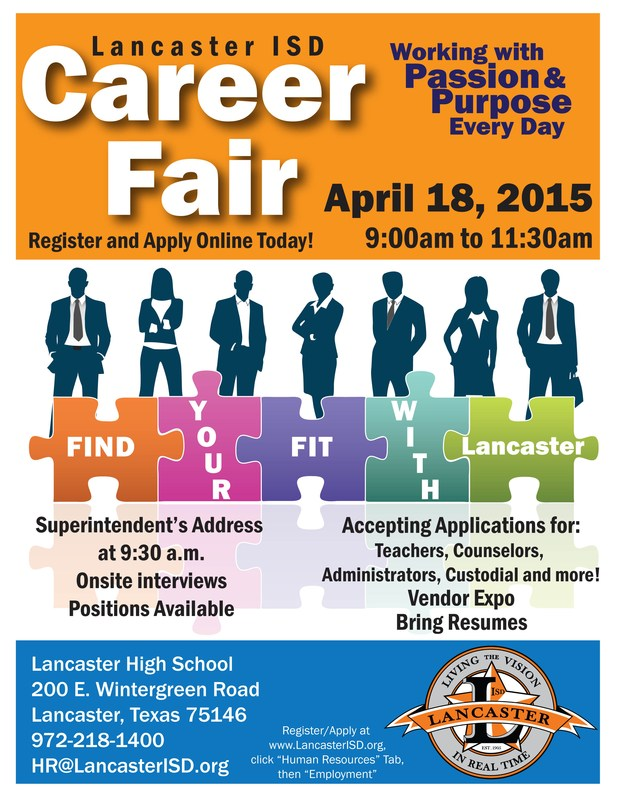Lancaster ISD to Host Career Fair for All Departments and Positions
