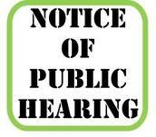 NOTICE OF PUBLIC MEETING ON TO DISCUSS BUDGET AND PROPOSED TAX RATE