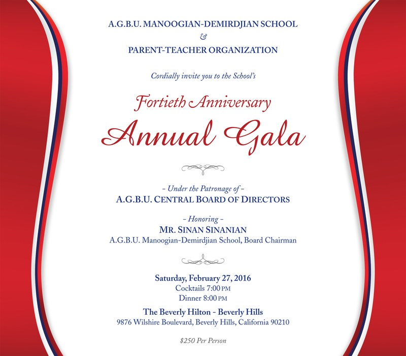 40th Anniversary Gala hosted by the PTO