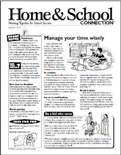Home & School Connection Parent Newsletter