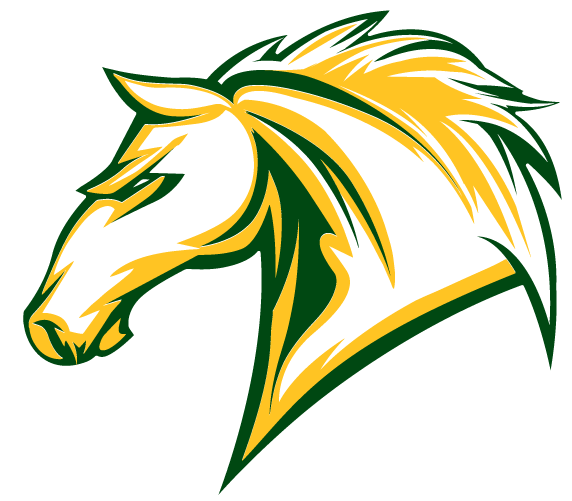 green mustang horse logo - Green Mustang Horse Logo