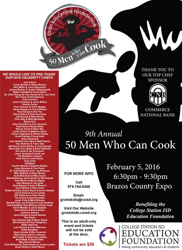 Get Your Tickets for 50 Men Who Can Cook