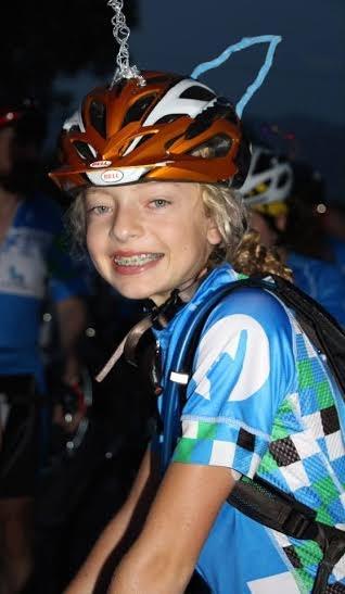 girl bicycling