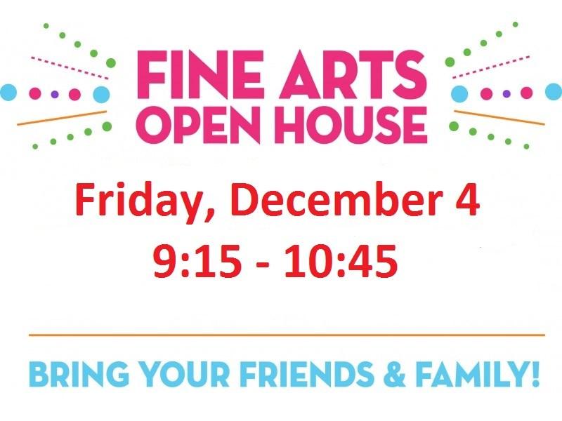 Covington Fine Arts Extravaganza Open House, December 4, 9:15 - 10:45