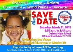Congresswoman Eddie Bernice Johnson's District 30 to Host Early Childhood Education Summit in Best Southwest Area