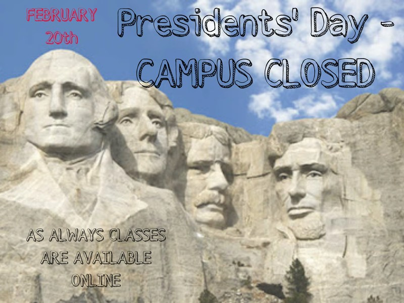Picture of Presidents with Campus closed info for Beacon
