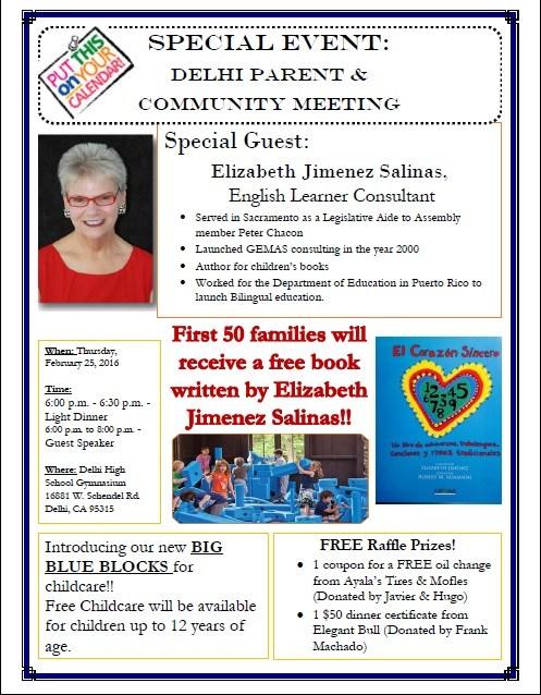 LCAP-Parent / Community Meeting / Junta de los Padres y Comunidad