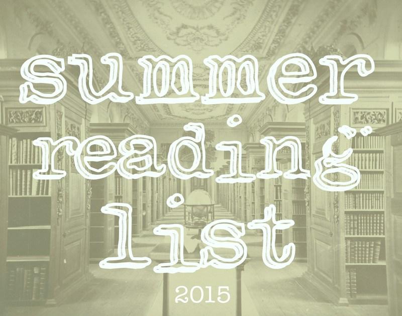 Summer 2015 Reading List
