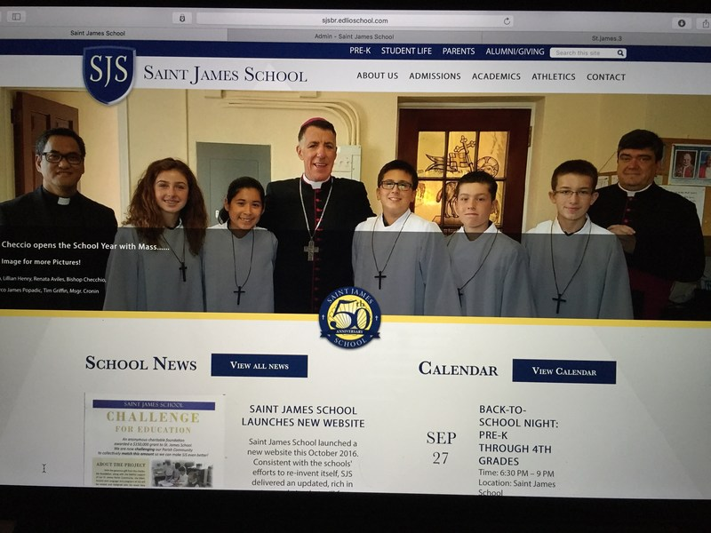 Saint James School Launches New Website! Thumbnail Image