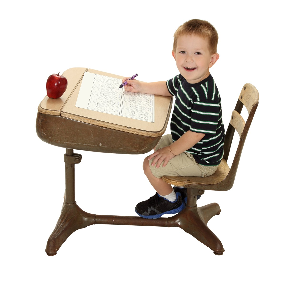 Boy at desk