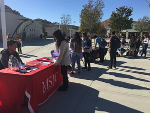 Mental health providers speaking to Tahquitz students at the first Mental Health Fair.