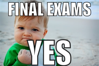 SEMESTER FINALS SCHEDULES POSTED