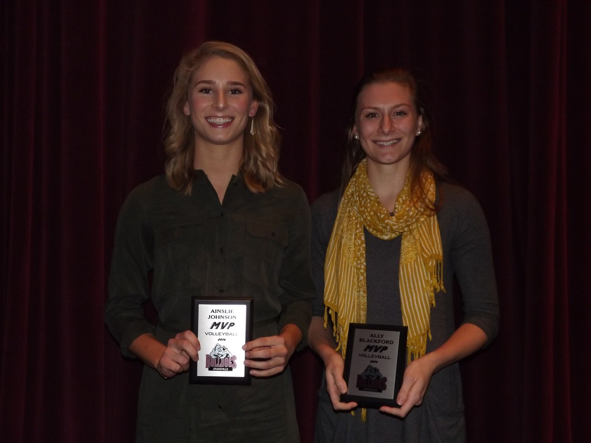 two girls with MVP awards