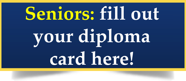Seniors: Fill out your Diploma Card here! Thumbnail Image