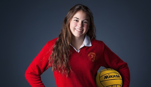 Rosary Water Polo Goalie is in OC Catholic!