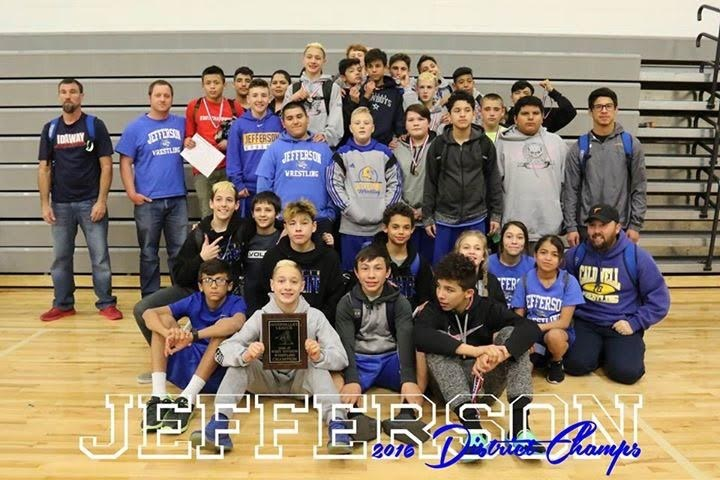 Jefferson Wrestlers Take Down Opponents for District Title!! Thumbnail Image